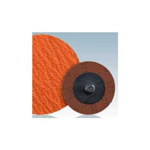 "Dynabrade 78103 - 2"" (51 mm) Dia. x 36 Grit Premium Ceramic Non-Vacuum DynaCut Locking-Type Disc (Qty 25)"