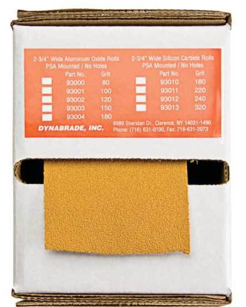 """Dynabrade 79304 - 2-3/4"""" (70 mm) W x 45 yds (41 m) L 180 Grit A/O PSA DynaCut Roll"""