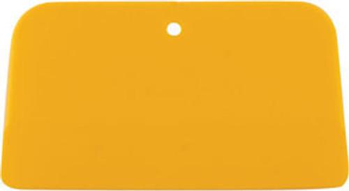"GL Enterprises 1205 Plastic Autobody/Bondo Spreader - Yellow 3-1/4"" x 5"" (100 Per Case)"
