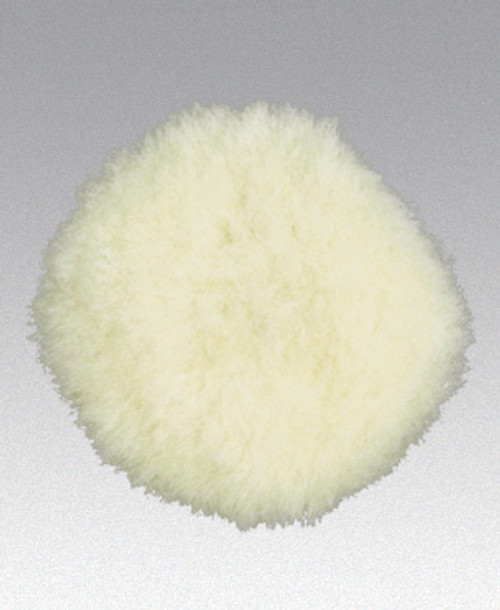 "Dynabrade 90028 - 3"" (76 mm) Dia. Polishing Pad Synthetic Wool Reattachable Hook-Face Backing Polishing/White"