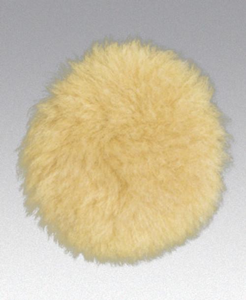 "Dynabrade 90080 3"" Dia. Polishing Pad Natural Sheepskin Wool Hook-Face Backing"