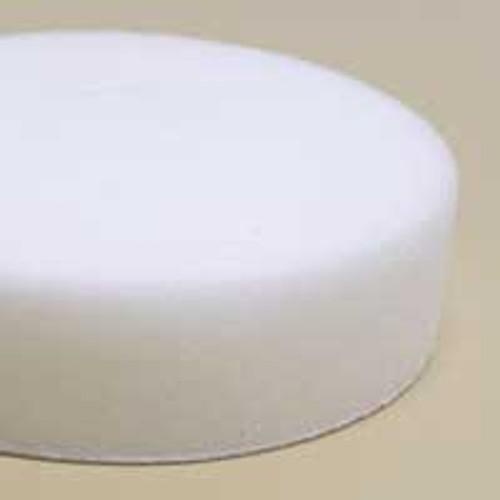 "Dynabrade 90038 3"" Dia. White Foam Polishing Pad Flat Face Hook Backing"