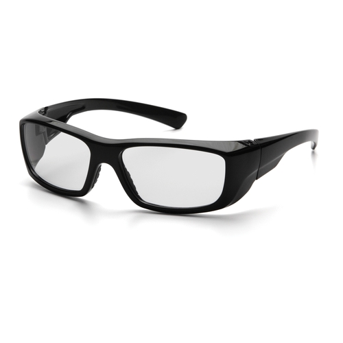 Pyramex SB7910DRX Emerge Safety Glasses, Frame: Black, Lens: Clear  (12 Pair)
