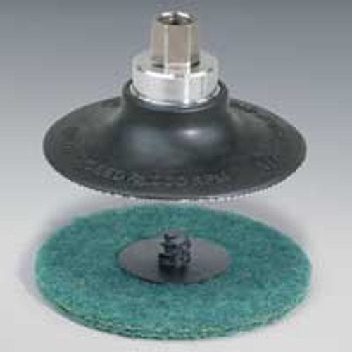 "Dynabrade 51345 - 2"" (51 mm) Dia. Locking-Type Disc Pad MediuM Density  3/8""-24 Female Thread"