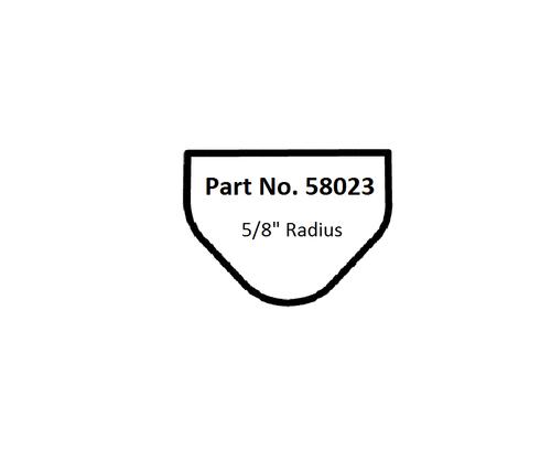 "Dynabrade 58023 5/8""Dia. Non-Vac Dynafine Backsplash Radius Disc Pad Vinyl-Face"