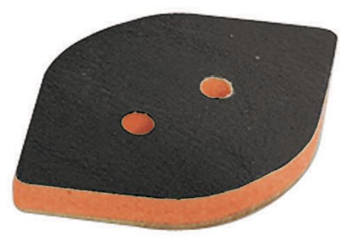 """Dynabrade 57953 3-3/4"""" W x 2-3/8"""" L Non-Vacuum Dynafine Tear Drop Disc Pad"""