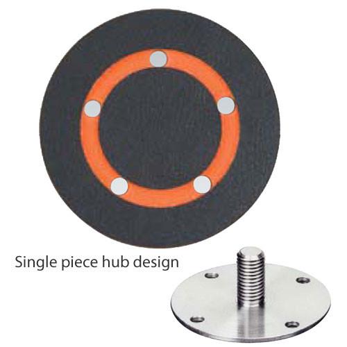 "Dynabrade 56264 - 6"" (152 mm) Dia. Vacuum Disc Pad  Vinyl-Face 5/8"" (16 mm) Thickness Urethane  Medium Density  5/16""-24 Male Thread"