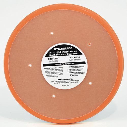 "Dynabrade 56234 - 8"" (203mm) Dia. Non-Vacuum Disc Pad Vinyl-Face 3/8"" (10mm) Thickness Urethane Medium Density 5 Screw-Mount 5 Holes"