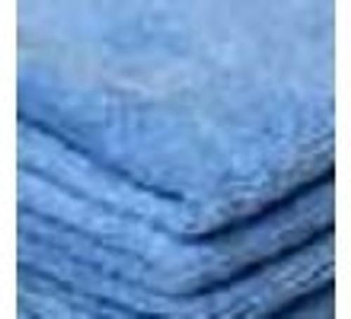 """Micro Fiber Towel, 15.5"""" x 15.5"""" Blue, Qty. 25 Towels Per Bag"""