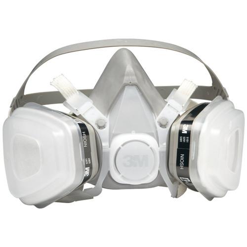 3M Half Facepiece Disposable Respirator Assembly 52P71, Organic Vapor/P95 Respiratory Protection, Medium (1 Each)