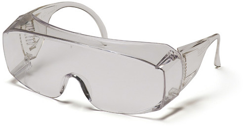 Pyramex S510SJ Solo Safety Glasses, Frame: Clear Jumbo, Lens: Clear- Over Prescription (1 Pair)