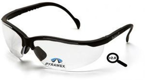 Pyramex SB1810R20 - Venture II Safety Glasses Clear 2.0 Reading Lens (1 Each)
