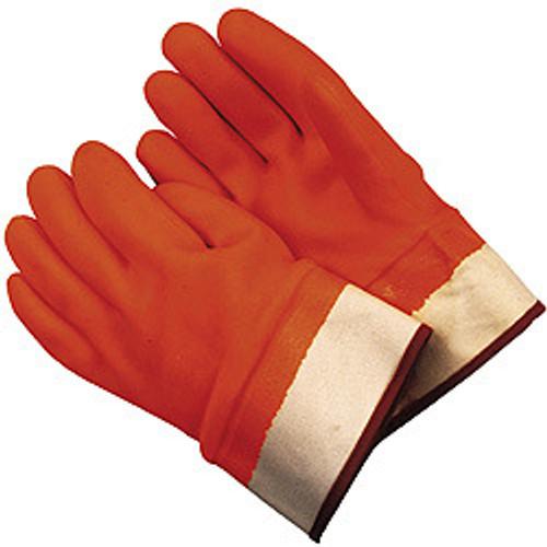 Memphis Glove 6710F Premium D/D Fluorescent Orange Color Foam-Lined Fully Coated S/Cuff, Size Lg. (12 Pair)