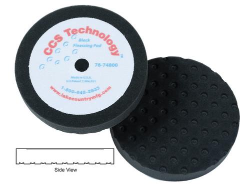 "Lake Country 78-74800 8"" x 1 1/4"" CCS Black Finessing Foam Pad Hook & Loop"