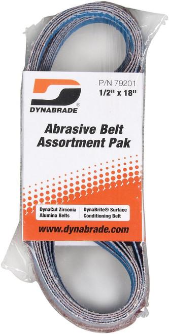 """19 mm W x 20-1//2/"""" L Belt Assortment Pak Dynabrade 79203-3//4/"""" 521 mm"""