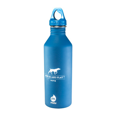 EzyDog 27oz Stainless Steel Water Bottle by Mizu - front