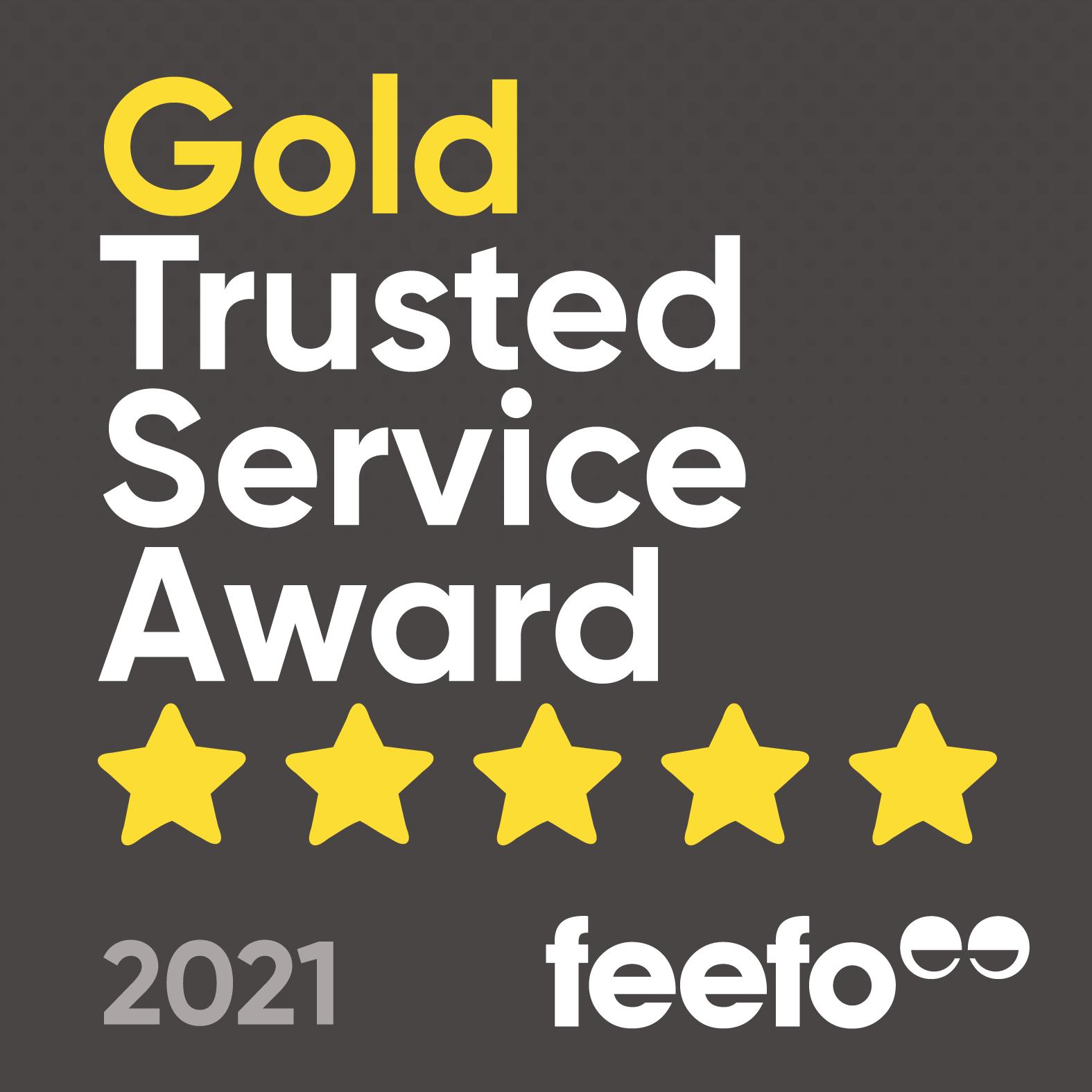 Feefo Gold Trusted Service Award