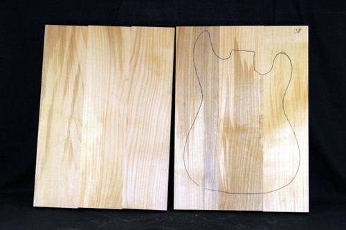 "Alder 3pc body 1.25"" thick"