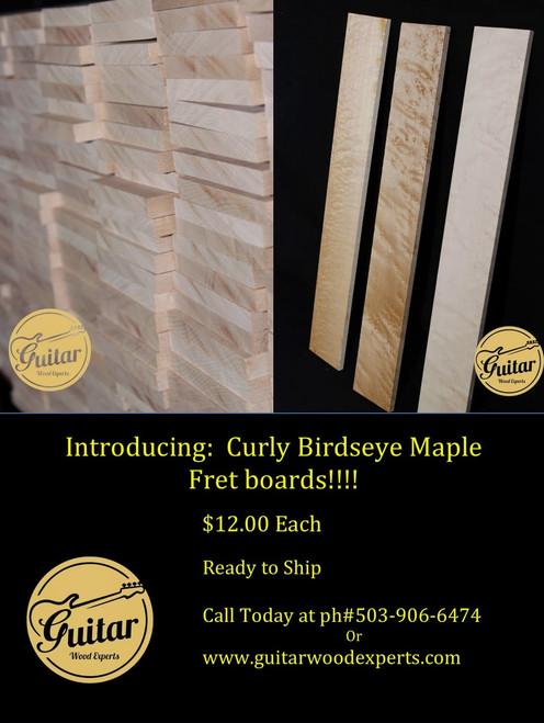 Curly Maple Birdseye Fretboards