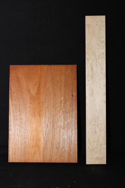 2a 2 piece Mahogany Body, BE Maple Neck Bundle