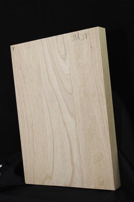 Ultra-lightweight Ash Body Blank, <2lbs / BF,  3 piece, Natural
