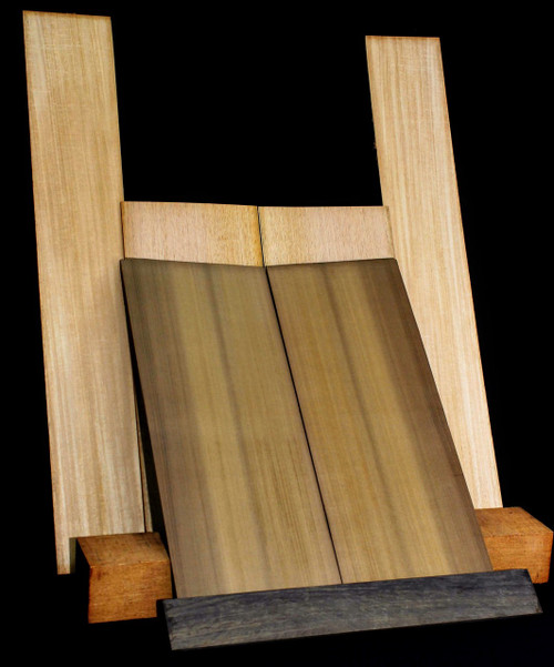 Acoustic: Complete Set.  Roasted Cedar Sound Board, Genuine Mahogany