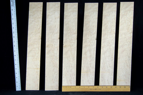 birdseye maple slices. pack of 6, natural finish