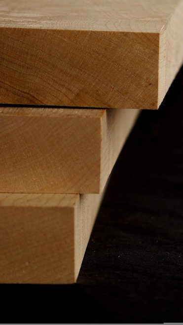"""bundle (3) birdseye Maple Necks Medium, 1"""" x 4"""" x 30"""""""