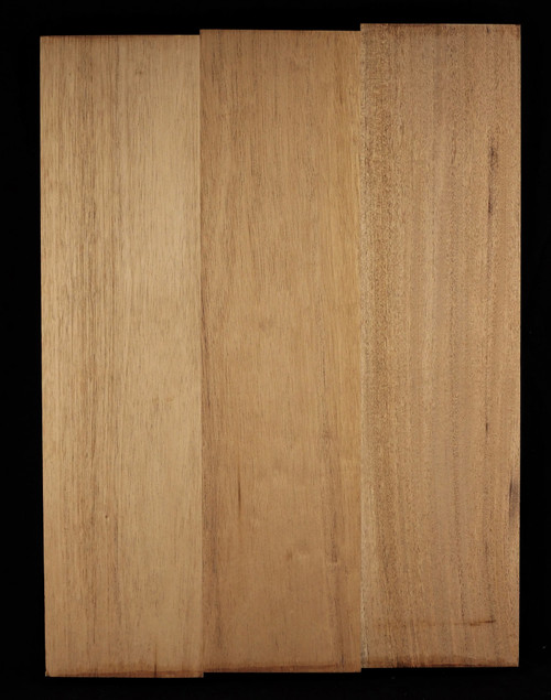 Genuine Mahogany 3piece body.  lightweight 2.5 to 2.7lbs/bf
