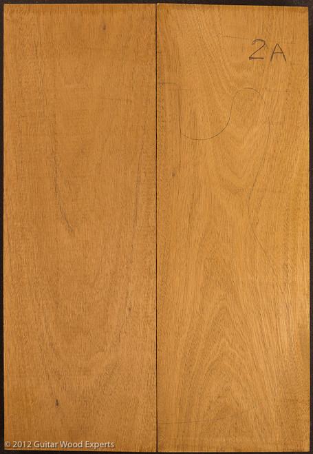 2A 2 Piece Genuine Honduran Mahogany body blank, 2.7 lbs/bf to 3.2 lbs/bf