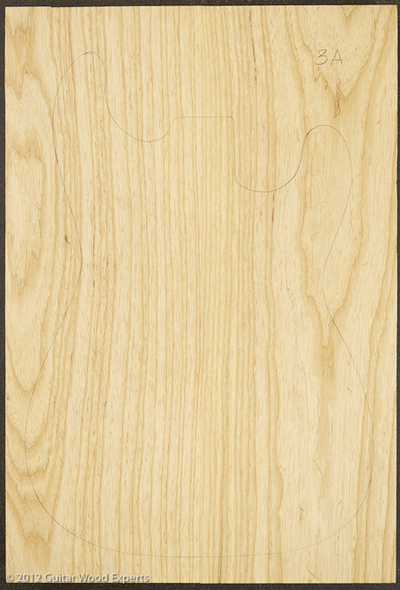 3a Swamp Ash Body Blank - Two Piece   2.2 lbs/bf to 3.0 lbs/bf