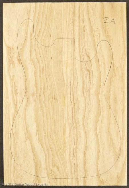 Swamp Ash Body Blank - 2 Piece - 2A :2.2lbs/bf to 3.0 lbs/bf
