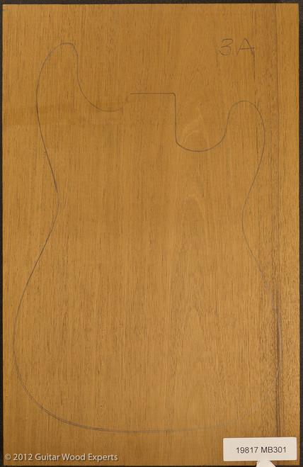 3A 1 Piece Honduran Mahogany Body blank, 2.7 lbs/bf to 3.2 lbs/bf