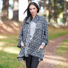 Royal Merino Buttoned Cape Coat