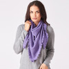 Royal Merino Moss Stitch Triangle Wrap