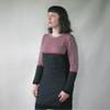 Zaza Merino Two Tone Checkered Dress