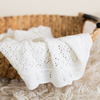 Silver Stream - Merino Wool Scallop Trim Shawl