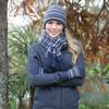 Lothlorian Multi-Stripe Merino - Possum Beanie