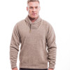 McDonald - Possum & Merino Shawl Collar Sweater with Short Zip