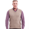 McDonald - Possum & Merino Unisex Cable Vest