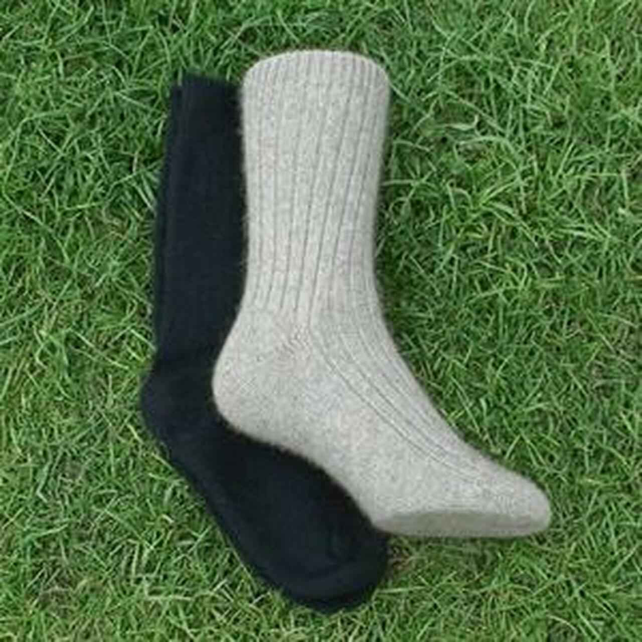 NZ Made Possum and Merino Cushioned Sole Trekking Socks