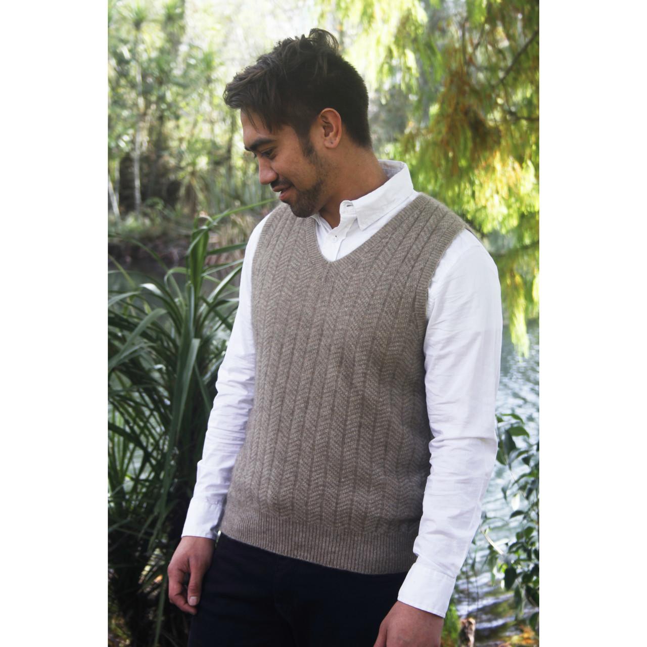 c5dcb5fd9ce Merino Wool and Possum Fur Blend Vest(b)