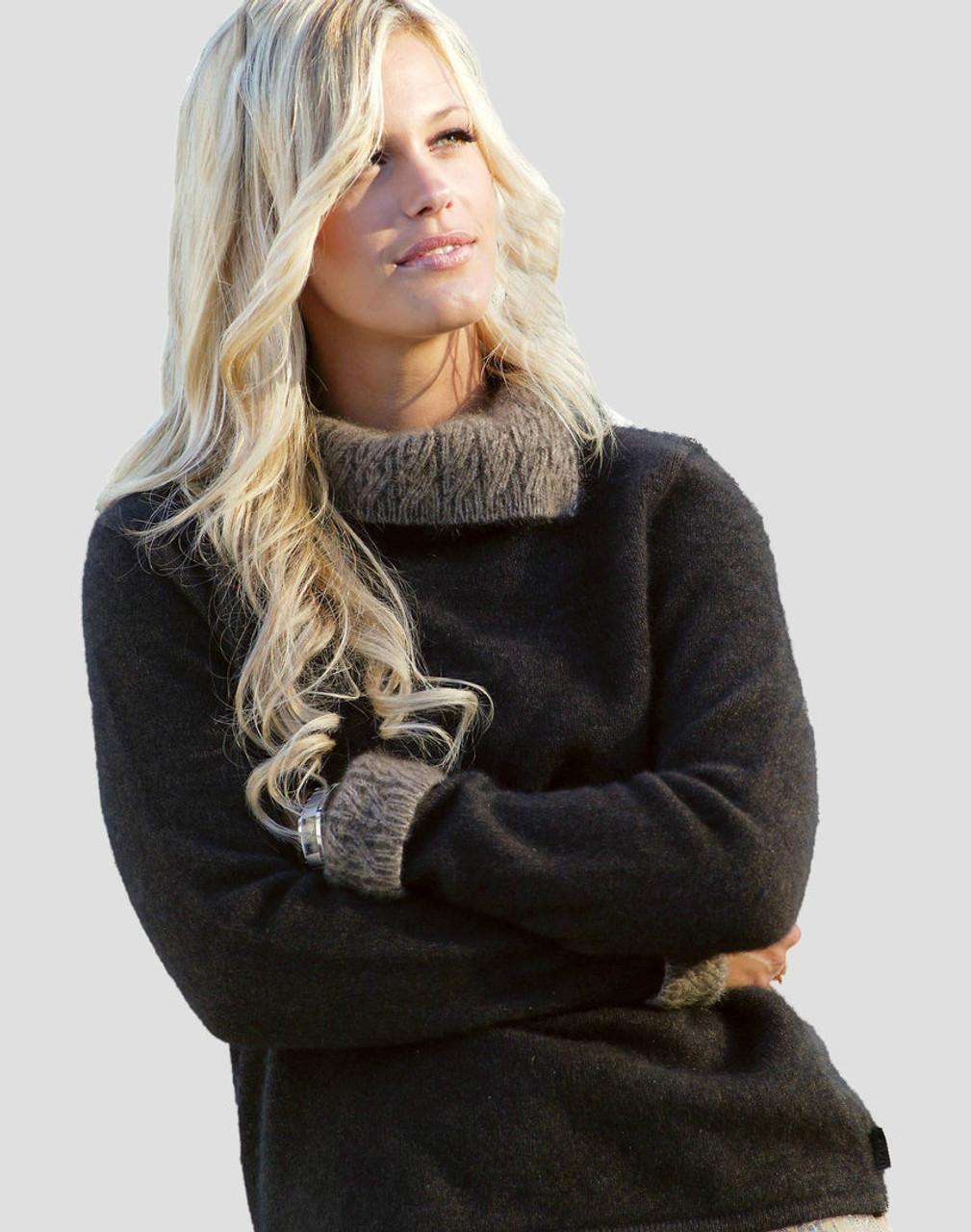 cfd6957463c Koru  Merino Wool and Possum Fur Collared Sweater