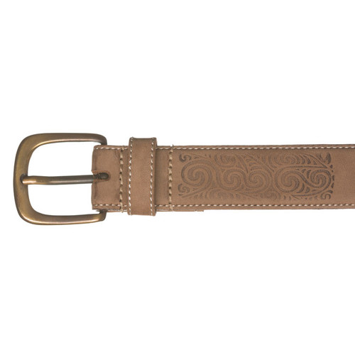 Kiwi Country - Embossed Rafter Leather Belt
