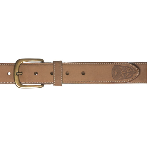 Kiwi Country - Embossed Face Leather Belt
