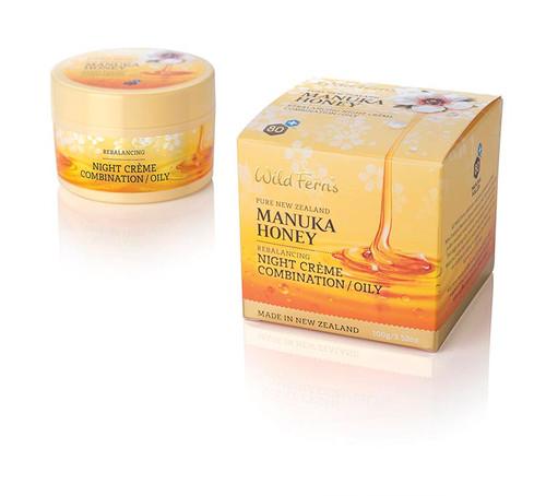 Wild Ferns - Manuka Honey Rebalancing Night Creme for Combination/Oily Skin