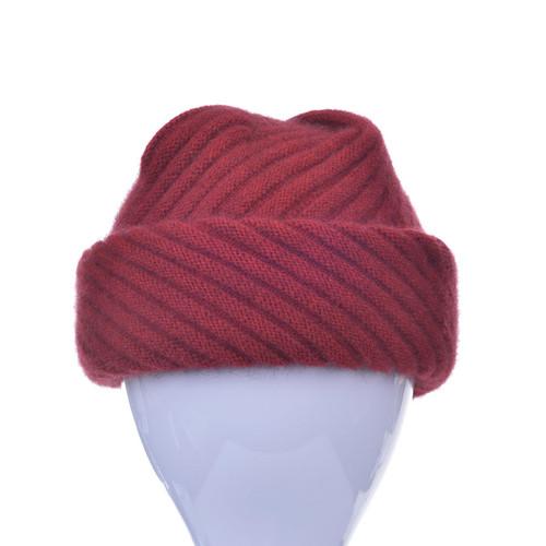 869673f305e McDonald - Possum   Merino Rib Hat with Pleated Top - The Tin Shed