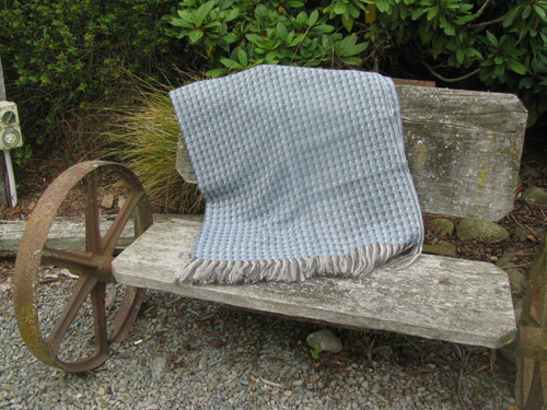 Stansborough Kauri Azurro Blue Wool Throw