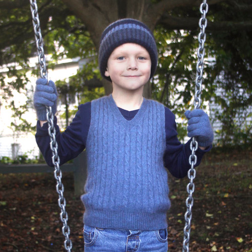 Cosy Kiwi - Merino & Possum Child's Cable Vest