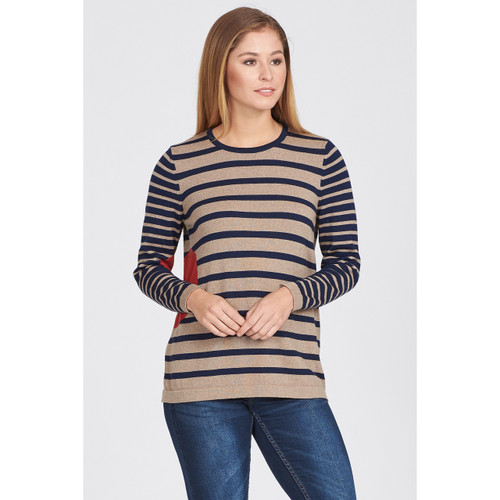 Optimum Merino - Stripe and Spot Jumper